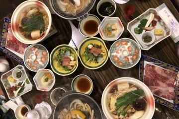 Comida típica de onsen