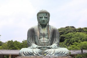 The Great Buddha of Kamakura is one of the most famous sights in Kamakura