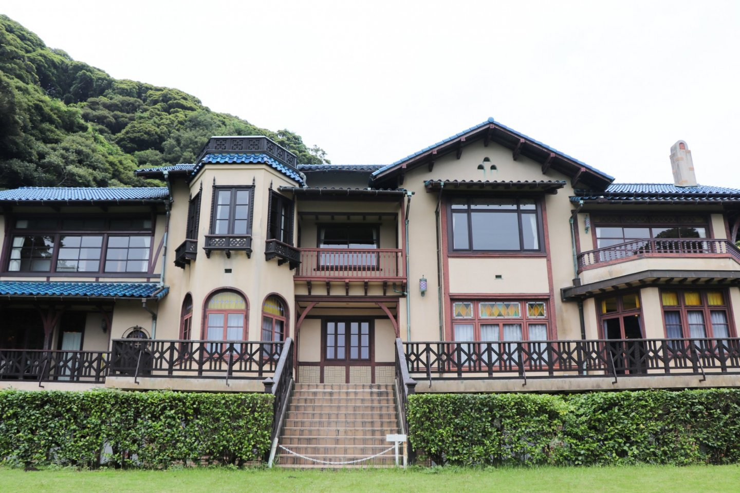 Kamakura Museum of Literature\'s architecture is European inspired.
