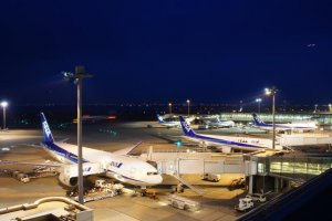 Terminal 1 - Planes parked at the terminal at Haneda Airport