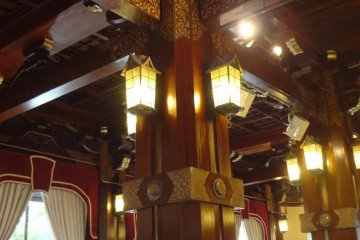 One of the banquet rooms, with a classical design.