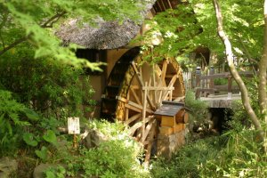 This watermill used to grind buckwheat flour for soba noodles