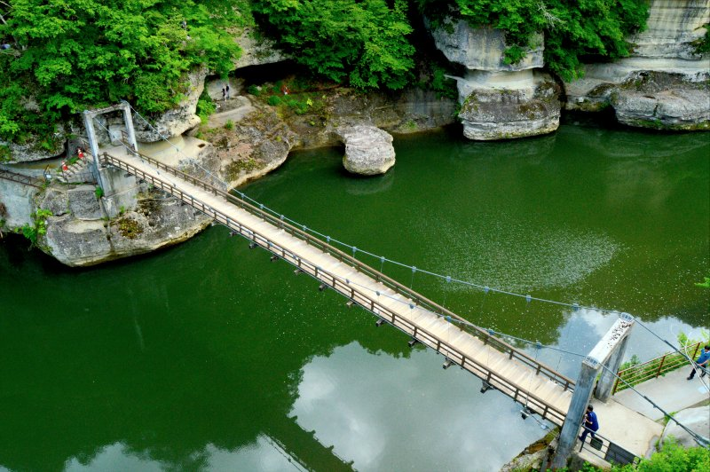 Tonohetsuri Bridge from above