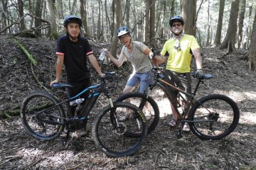 Cool mountain biking adventures on forest trails