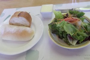 My bread and salad