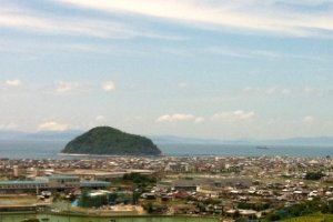 Kashima dominates the coast north of Matsuyama