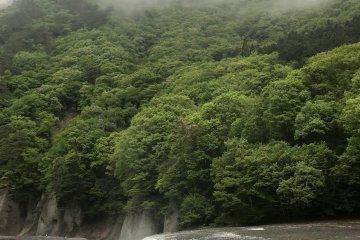 Fukiware Falls on a rainy day