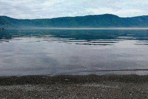 Danau yang berkabut di pagi hari