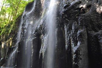 Water spraying off the rocks