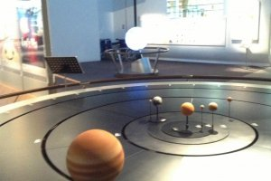 Превосходная динамическая модель, наглядно демонстрирующая траектории движения планет вокруг Солнца.
