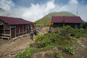 At the mountain hut