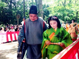 A wise instructor at the Aoi Matsuri an annual celebration on May 15