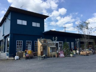 Rubino antique and landscaping store is right beside the cafe.