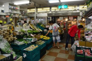 A good selection of vegetables in the green grocery