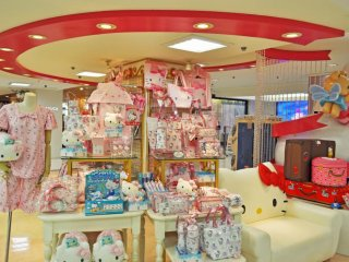 Kawaii pajamas and bags in pastel pink