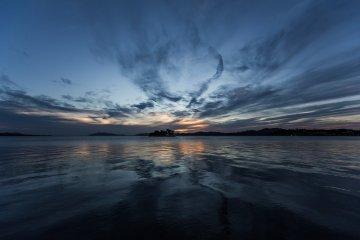 Sunset Over Lake Shinji