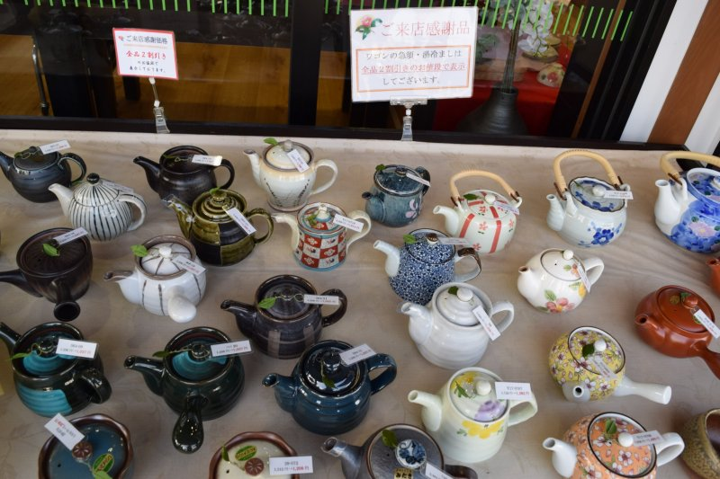 There are a host of tea wares on offer