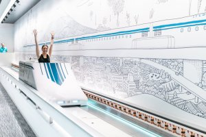 The 'Miniature Maglev' ride