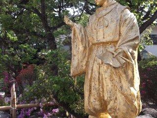 A statue near the main hall