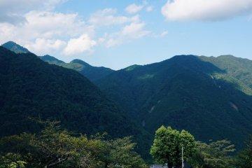 Stunning views of the Nachi mountain range