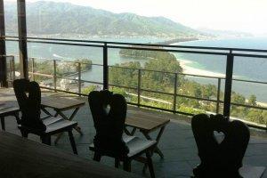 Ryokan terrace overlooking Amanohashidate