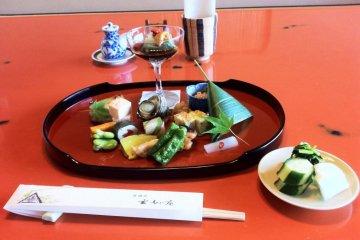 High-class cuisine at Genmyoan Ryokan Amanohashidate on the North Shore of Kyoto Prefecture