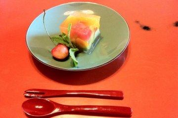 Delicious deserts at Genmyoan Ryokan Amanohashidate on the North Shore of Kyoto Prefecture