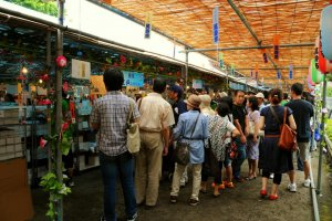Many booths represent furin makers from prefectures throughout Japan