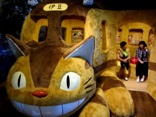 Possibly the best part of the museum is the cat bus from Totoro, which adults are allowed inside! (unlike the Ghibli Museum)