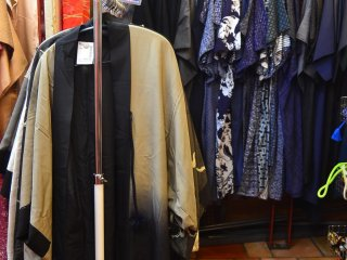 Dark colored kimono for men