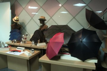 You can purchase really unique items like umbrellas and fans made with leather at the event as well.