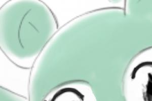 Detalhe das orelhas da mascote