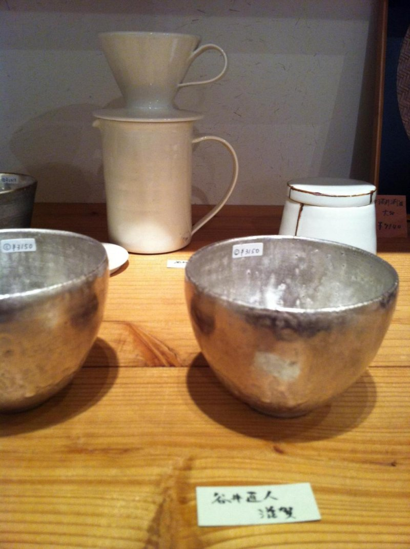 Elegant silver ceramics