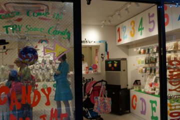 Everything about the store is colorful and fun