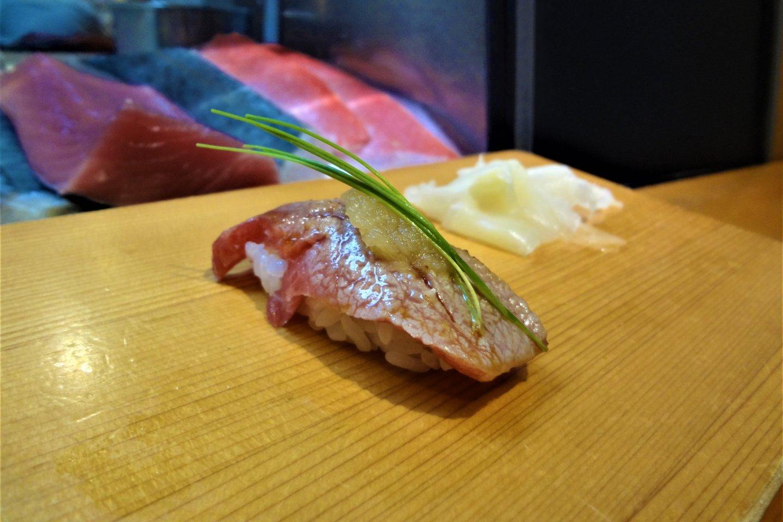 Seared fatty tuna
