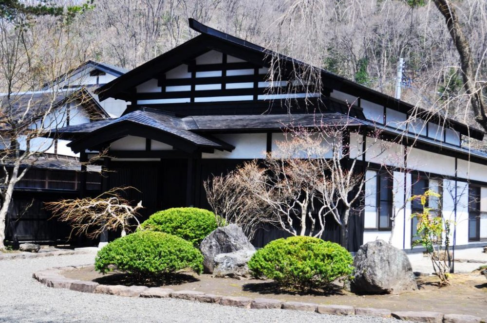 The exterior of one of the samurai houses.