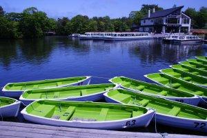 Vous pouvez louer un bateau sur le lac Onuma