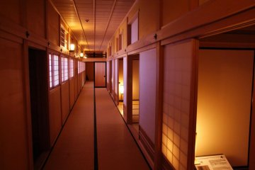 Hallways lead you along the visitor's route