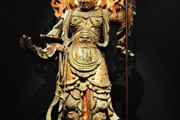 Standing Komoku Ten.12th century Japanese sculpture.