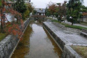 River canal between JR Koriyama Station and Koriyama Castle