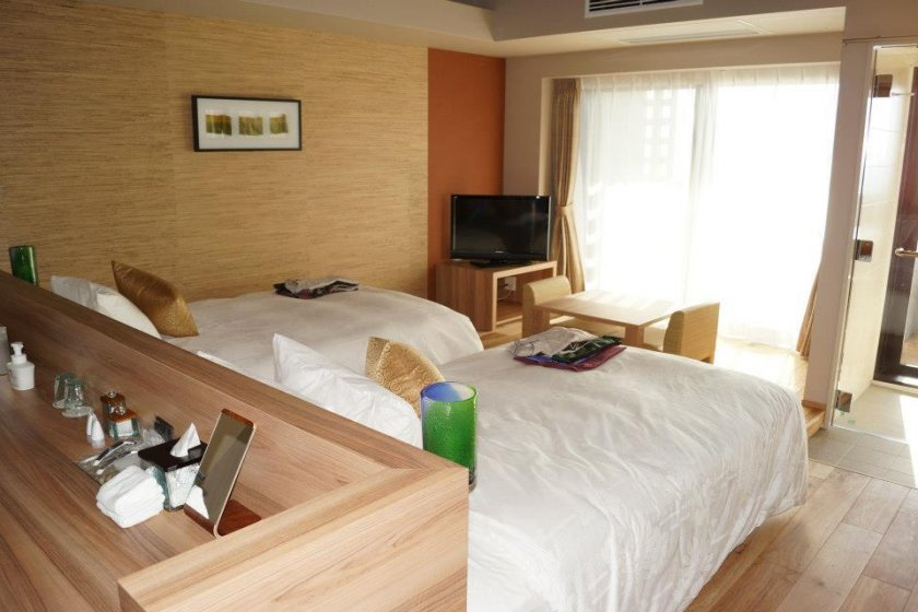 One of the 104 available rooms.