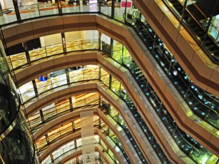 Looking down from the top floor tends to make one dizzy.
