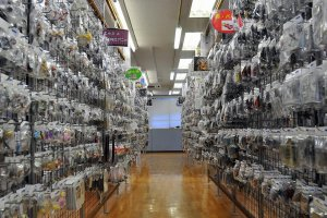 Rows and rows of tiny figurines