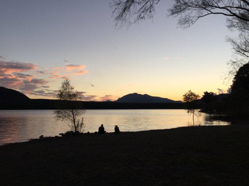 Sunset at Lake Sai