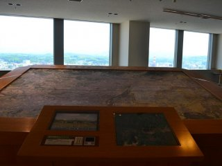 Area maps of Morioka City can be seen on the 20th floor.