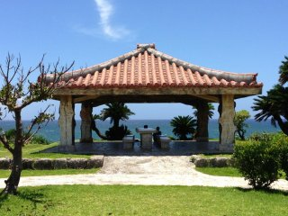 There's a pavillion at the highest point of Toguchi Beach Park; pack a lunch and enjoy the views of the East China Sea, the Hija River, and Yomitan Village