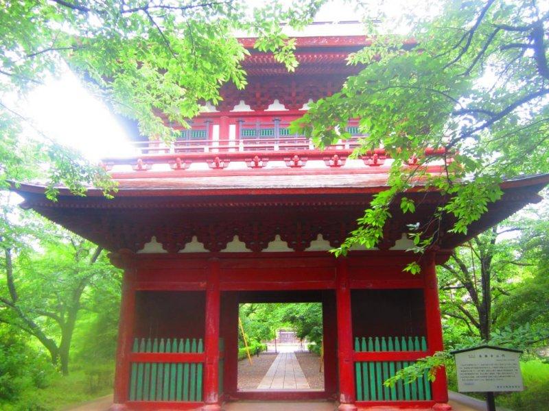 The ornate entry gate of Chosho-ji