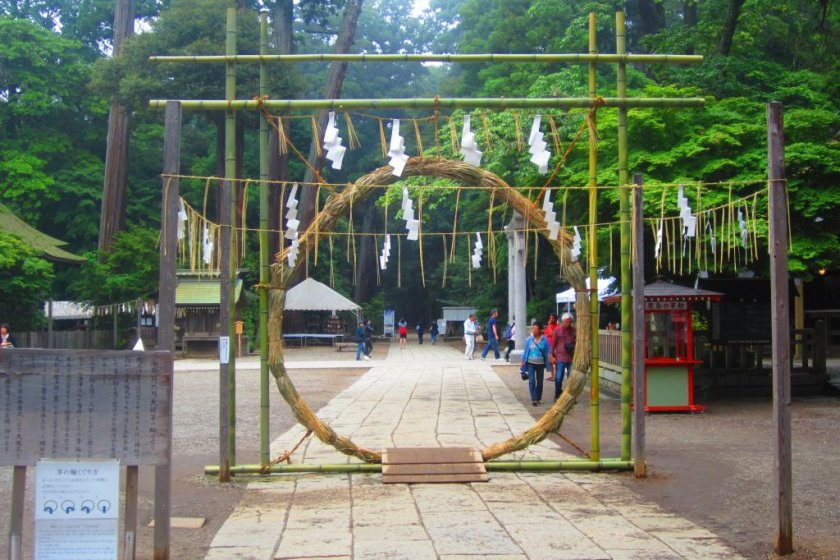 The straw purification ring set up during the mid-summer rites