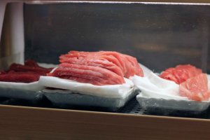 Fresh fish ready to be made into delicious sushi.