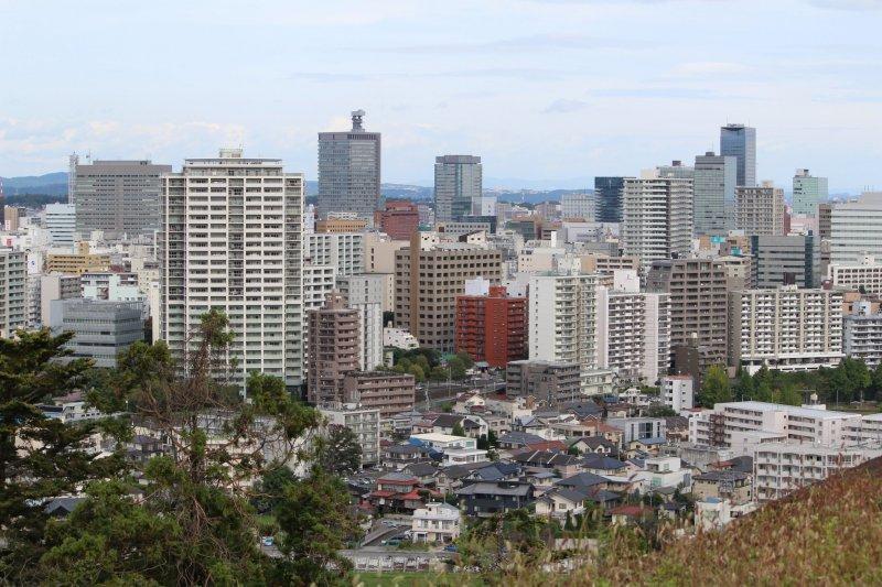 Вид на Сендай с горы Аоба